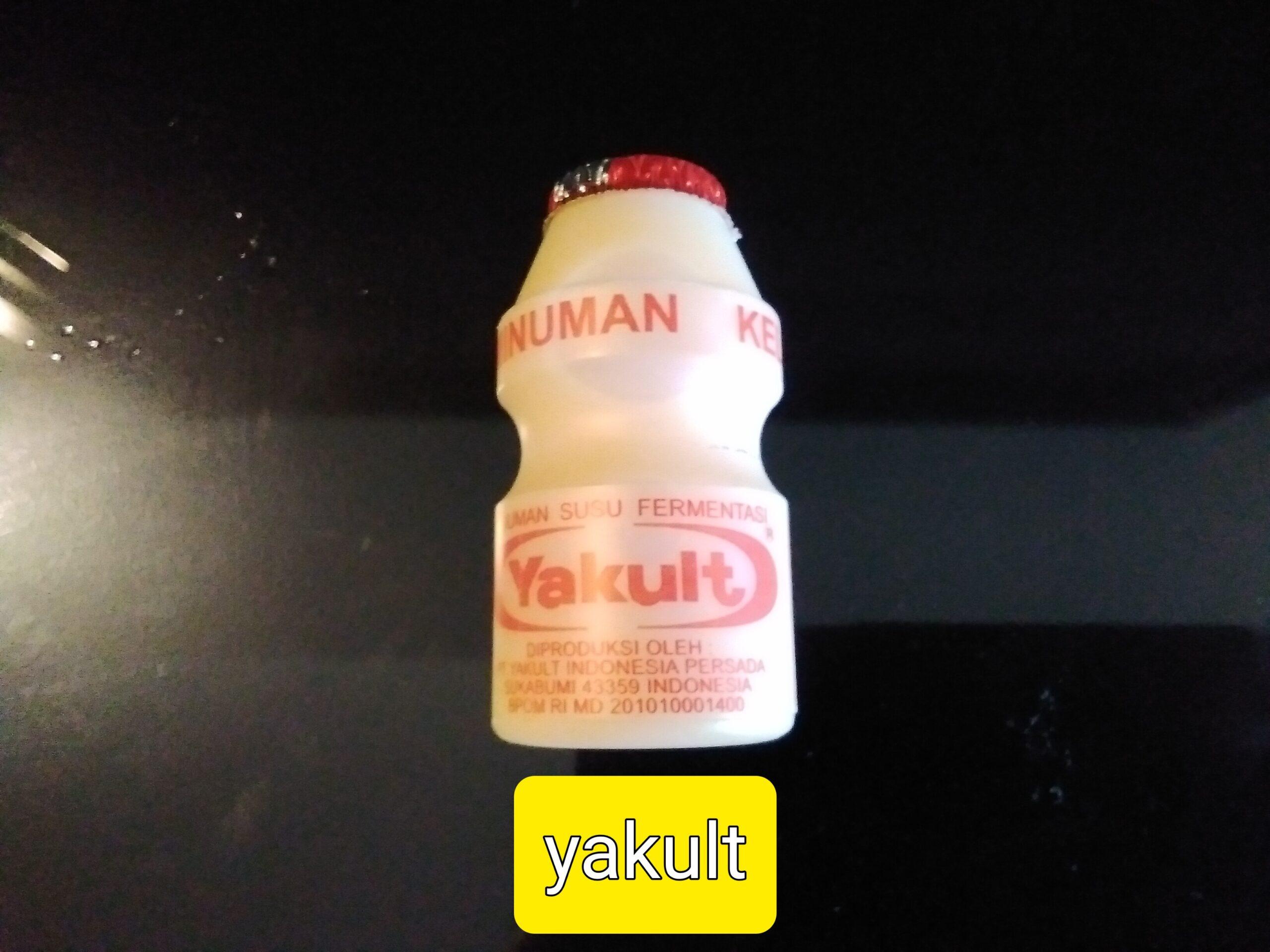 yogurt drink or yakult